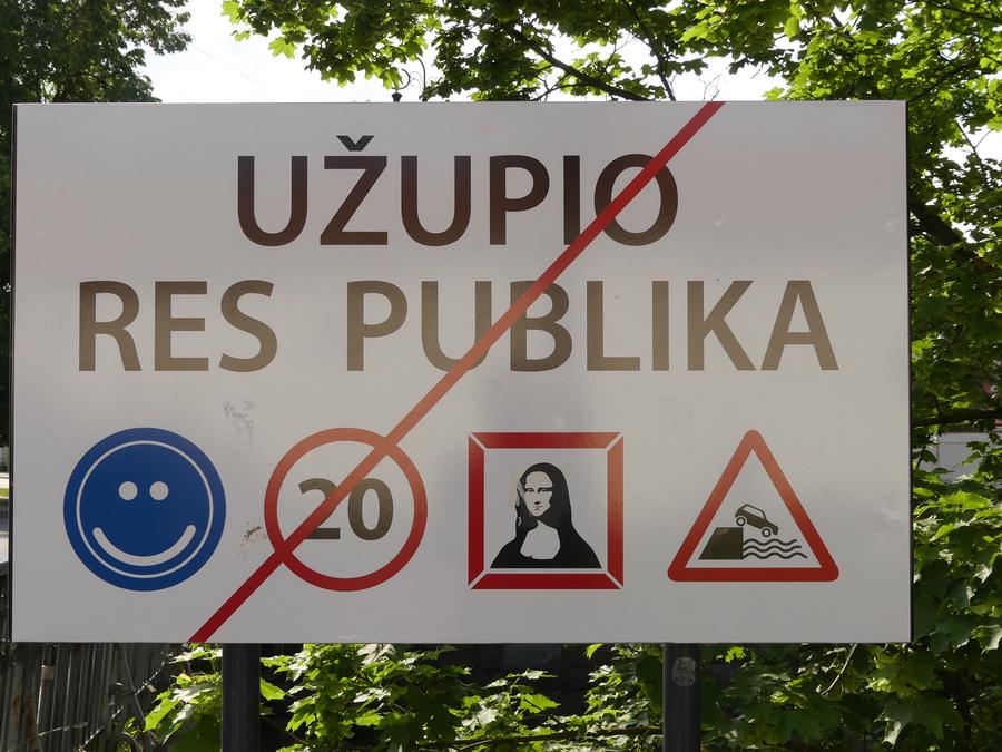 Sie verlassen Užupis